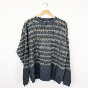Vintage Cotton Blend Knit Sweater